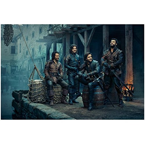 the-musketeers-tv-series-2014-8-inch-x10-inch-photograph-cast-evening-pic-pose-3-kn