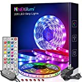 Nexillumi 20 ft LED Lights for Bedroom with Remote