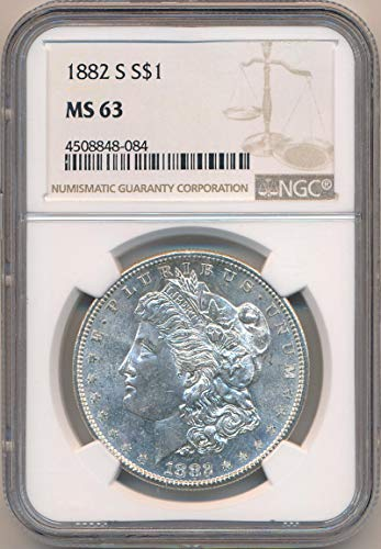 1882 S Morgan Dollar Dollar MS63 NGC