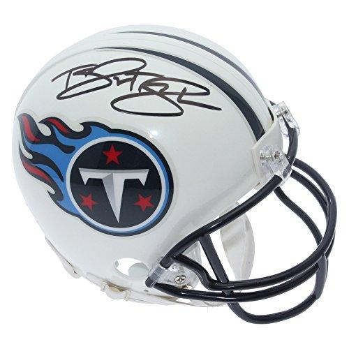 Taywan Taylor Tennessee Titans Autographed Riddell Mini Helmet - JSA Authentic