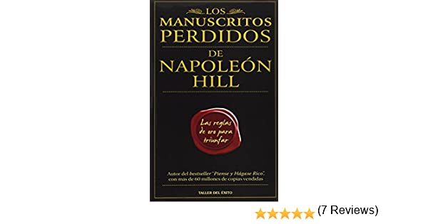 Manuscritos perdidos de napolen hill spanish edition hill manuscritos perdidos de napolen hill spanish edition hill napoleon 9781607380030 amazon books fandeluxe Choice Image