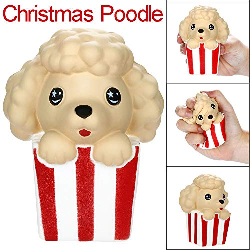 JonerytimeSquishies Cute Christmas Poodle Slow Rising Fruits Scented