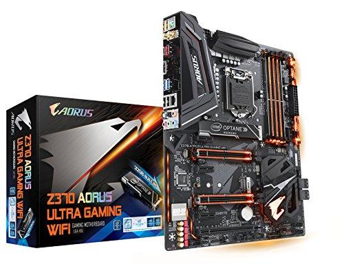 GIGABYTE Z370 AORUS ULTRAGAMING WIFI-OP (Intel LGA1151/z370/ATX/Built-in 32GB Intel Optane Memory/Front USB 3.1/2xM.2/SLI/Motherboard) (Dual Gbe Motherboard)