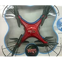 SYR-WIFI and HD Camera four-axis Quadcopter 4CH 2.4GHz 6 Axis Gyro Drones RC remote control 360 Degree Roll-Over with SD Card Helicopter -Red
