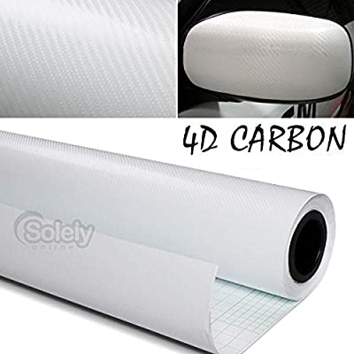 "DIYAH 4D White Carbon Fiber Vinyl Wrap Sticker with Air Realease Bubble Free Anti-Wrinkle 12"" X 60"" (1FT X 5FT): Automotive"