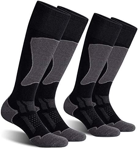 CelerSport 2 Pack Men's Ski Socks for Skiing, Snowboarding, Cold Weather, Winter Performance Socks