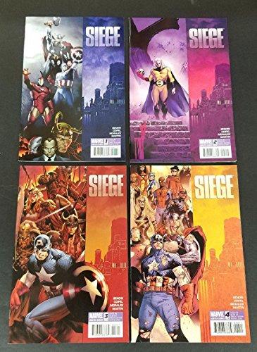 Siege #1-4 Full Set Complete Run Near Mint Marvel Comics 2010 CBX1F