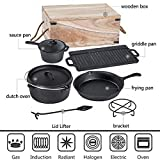 Bruntmor Pre-Seasoned 7 Piece Heavy Duty Cast Iron