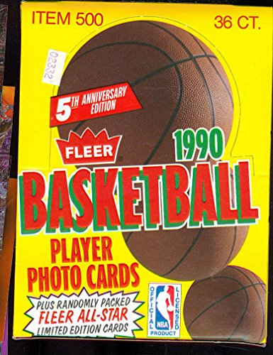 1990-91 Fleer Basketball Card Set Wax Pack Box ()