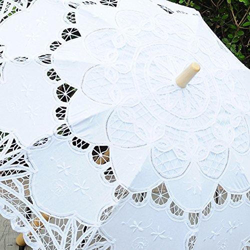 TBNA Bridal Lace Umbrellas Wedding Umbrella Bridal Parasol Umbrella for Bride Bridesmaid by TBNA Bridal (Image #1)
