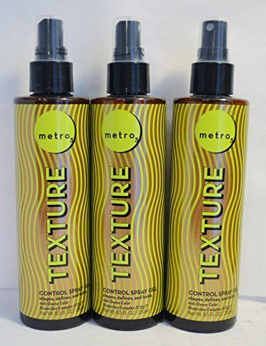 Metro3 Texture Control Spray Gel 8.5oz (3 pack) by Metro3 ()