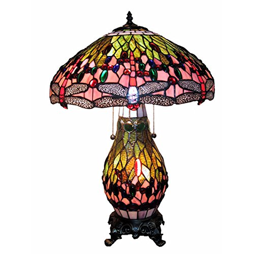 HomeRoots Warehouse of Tiffany T18275TGRA Dragonfly Table Lamp