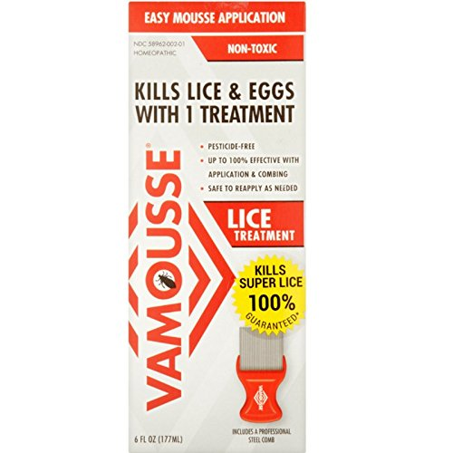 Vamousse Lice Treatment Easy Mousse Application 6 oz (Pack of 4) by Vamousse