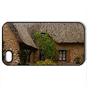 Chaumire hameau de Kerhinet Saint Lyphard - Case Cover for iPhone 4 and 4s (Houses Series, Watercolor style, Black)