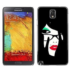 Be Good Phone Accessory // Dura Cáscara cubierta Protectora Caso Carcasa Funda de Protección para Samsung Note 3 N9000 N9002 N9005 // Red Lips