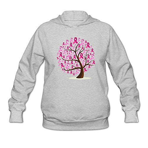 (JUST Women's Tree Logo Fight Cancer Hoodies Ash)