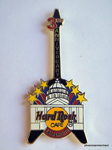 3rd-anniversary-guitar-with-state-capitol-pin-hard-rock-cafe-sacramento-california