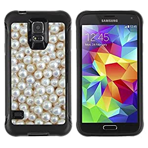 Paccase / Suave TPU GEL Caso Carcasa de Protección Funda para - White Rich Pearl Jewel Gem - Samsung Galaxy S5 SM-G900