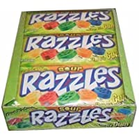 Sour Razzles Candy, 1.4oz Pouches, 24-Count by Sour Razzles Candy (24 count) [Foods]