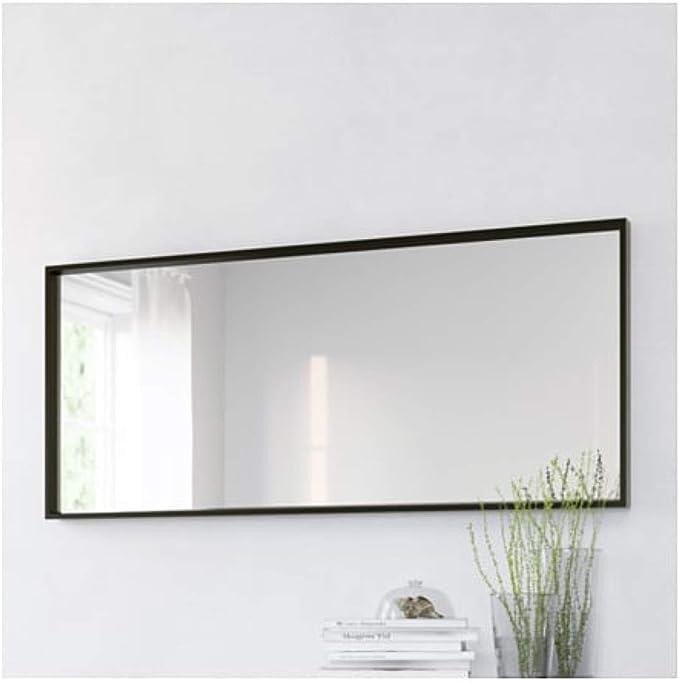 IKEA 703.203.19 - Espejo de pared con forma de nissedal, color negro, talla 25, 5/8x59: Amazon.es: Hogar