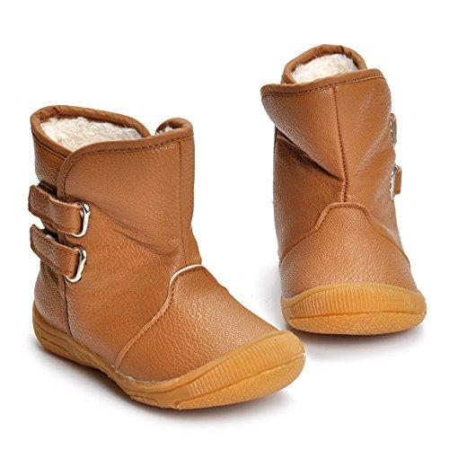 MK MATT KEELY Toddler Snow Boots Baby Boys Plush Winter Warm Boots Little Kids Khaki Rubber - Mk Baby Boots