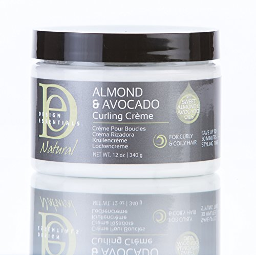 - Design Essentials Nourishing Curling Crème for Naturally Curly Coily Hair Textures-Almond & Avocado Collection, 12oz.