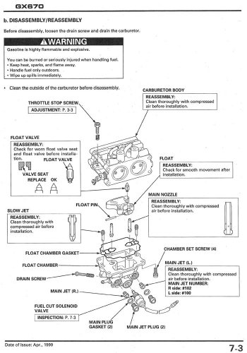 amazon com honda gx670 engine service repair shop manual garden rh amazon com Honda Small Engine Wiring Diagram Honda GX670 Oil Capacity