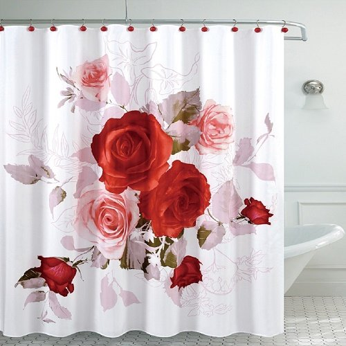 Amazon Daniels Bath Fancy Room Shower Curtain Roses Home Kitchen