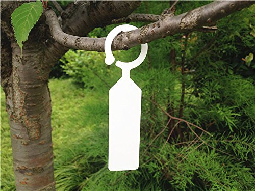 KINGLAKE 500 Pcs Thick Plastic Plant Tree Tags Markers Nursery Garden Labels White by KINGLAKE