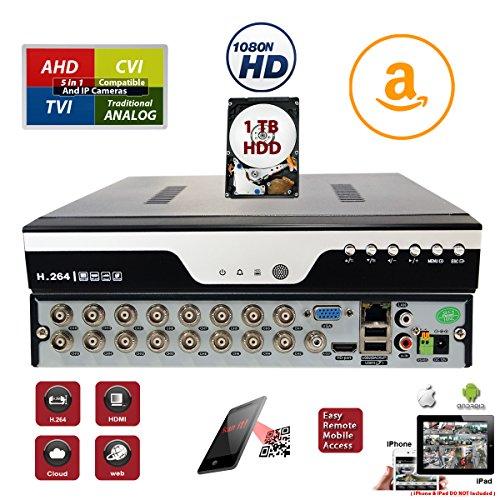 (Evertech 16 Channel Surveillance H.264 Digital Video Recorder w/ 1TB Hard Drive)