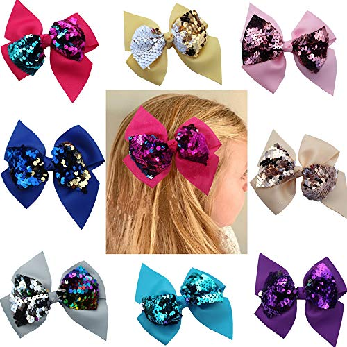 Ornaments Hair Tie - Scrunchies Metallic Elastic Sequin Hair Ties,Sequins Bow Hairpin Ornaments For Baby Girls Toddler Kids and Woman (colorful-2)