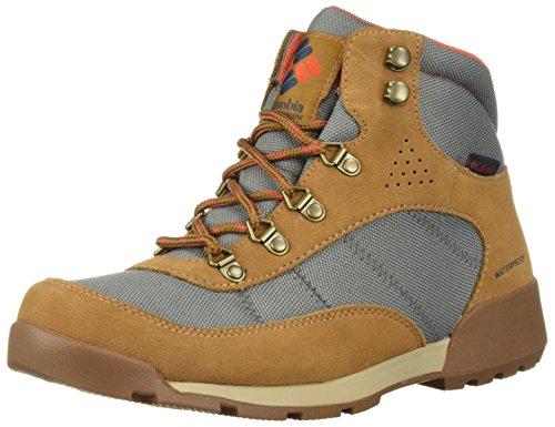 Image of Columbia Women's Endicott Classic MID Waterproof Hiking Boot, ti Grey Steel, red Canyon, 8 Regular US