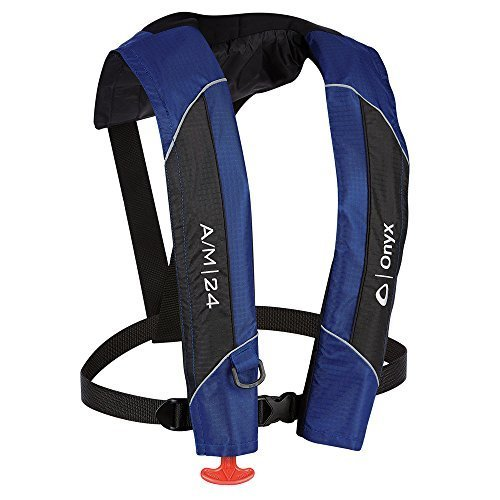 (1 - Onyx A/M-24 Automatic/Manual Inflatable PFD Life Jacket - Blue)