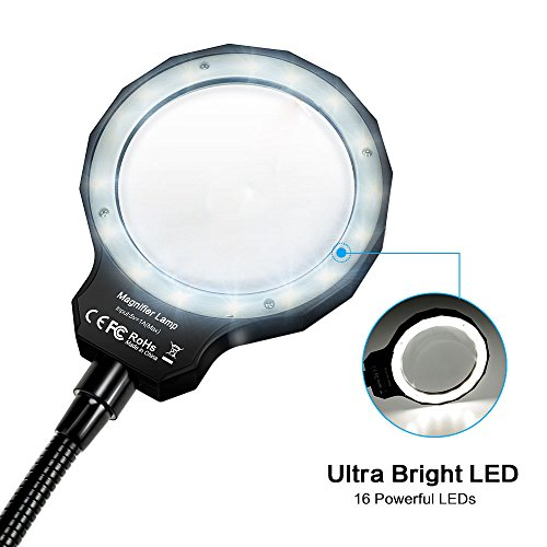 70%OFF Magnifying Glass, Number One 3X LED Lighted Magnifying Lamp USB  Powered
