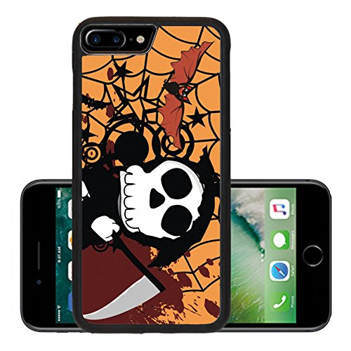 Liili Premium Apple iPhone 7 Plus Aluminum Backplate Bumper Snap Case funny dead cartoon background in vector format Photo (Cute Halloween Wallpaper Iphone)