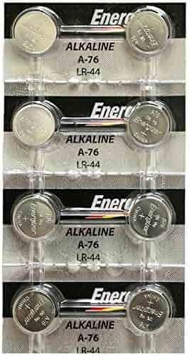 [ Strip of 8 ] Energizer A76/LR44 (A76BP), SR44, L1154, 1.5v Alkaline Batteries