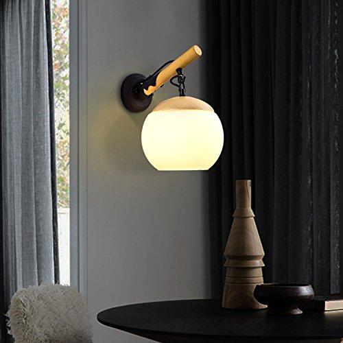 Mur Chevet Bois Lumières Salon Binjg Nordique Chambre Solide En 54A3SRcLqj