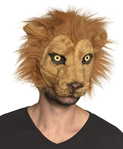 Boland Lion Mask Adult Plush Half Face Mask Cat Halloween Fancy Dress Accessory -