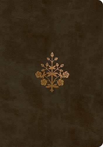 ESV Single Column Journaling Bible, Large Print (TruTone, Olive, Branch ()