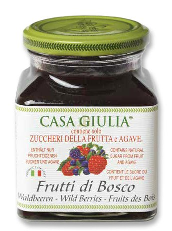 Casa Giulia Sugar-Free Jam, Wild Berry, 11.64 Ounce (Strawberry Free Sugar Jam)