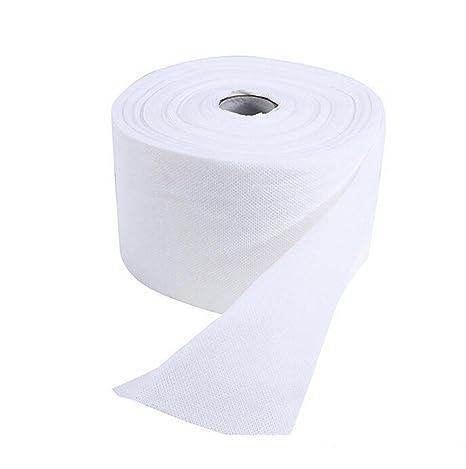 1 rollo (75PCS) desechables toalla de lavado facial maquillaje soplo almohadillas de algodón suave