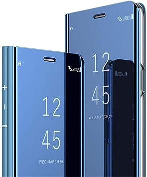 COTDINFOR Samsung A7 2018 Funda Espejo Ultra Slim Ligero Flip ...