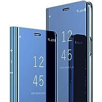 COTDINFOR Samsung A7 2018 Funda Espejo Ultra Slim Ligero Flip Funda Clear View Standing Cover Mirror PC + PU Cover…