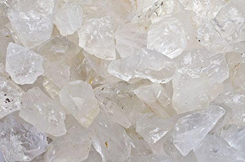 Fantasia Materials: 1 lb Clear Quartz Rough from Madagascar- (Select 1 to 18 lbs) - Raw Natural Crystals for Cabbing, Cutting, Lapidary, Tumbling, Polishing, Wire Wrapping, Wicca & Reiki Healing (Clear Topaz Gems)