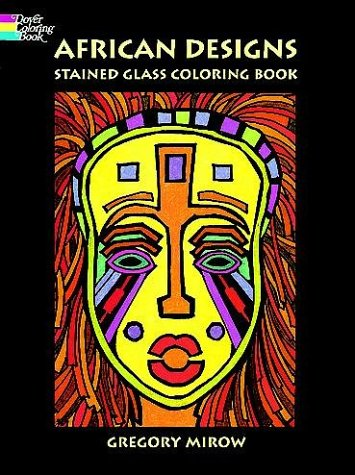 African Designs Stained Glass Coloring Book -