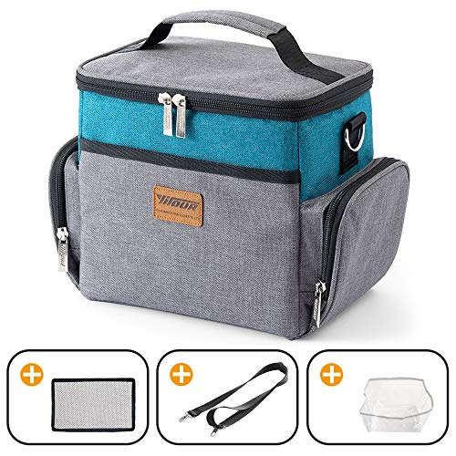 Insulated Lunch Box Lunch Bag for Adults Men Women Kids, 9L(12-Can) Insulated Soft Sided Cooler Bag- Collapsible Portable Travel Cooler Bag for Beach/Picnic/Camping/BBQ/Office/School