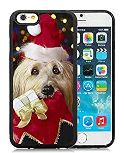 Individualization Case Cover For Ipod Touch 4 Christmas Dog Black Hard Case 24
