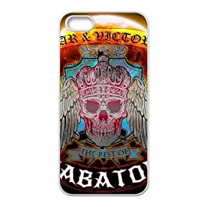SABATON 17 a la mejor funda funda iPhone 5 casos 5s teléfono celular de cubierta blanca