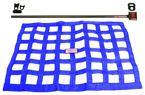 (Southwest Speed Blue Racing Window NET & Push Button Installation KIT W/Hardware,18