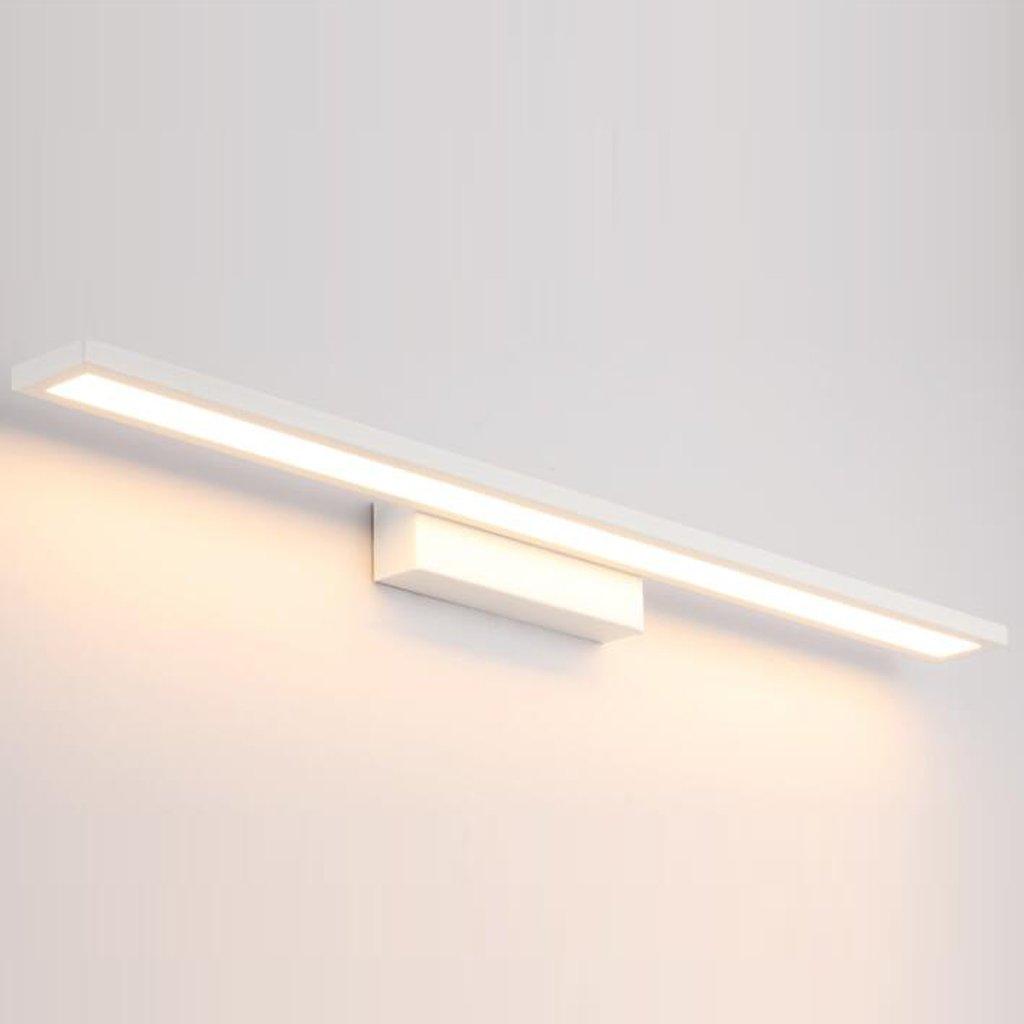 JJJJD Badezimmer-Badezimmer-Spiegel-Scheinwerfer, LED-Badezimmer-Wand-Lampen-Verfassungs-Lampe, wasserdichte Nebel-Hardware + LED-Lichtquelle weiß (Farbe   Warmes weißes Licht-40CM 16W)